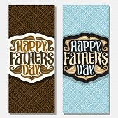 Vector Greeting Cards For Fathers Day poster