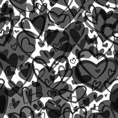 Cute Valentines Seamless Pattern With Hearts. Love Theme. Wedding, Dating And Romance Background poster