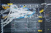 Colorful Wires. Important Colorful Wires For Telecommunication In A Data Center poster
