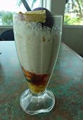 Halo-halo Dessert, Tall Glass Side View Side View Of A Tall Glass Of Halo-halo, A Popular Dessert In poster