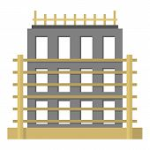 House Exterior Icon. Flat Illustration Of House Exterior Vector Icon For Web poster