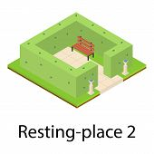 Resting Place Icon. Isometric Illustration Of Resting Place Vector Icon For Web poster