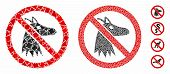 No Fox Composition Of Ragged Items In Variable Sizes And Color Tinges, Based On No Fox Icon. Vector  poster