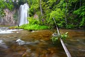 picture of spearfishing  - River rapids below Spearfish Falls in the Black Hills National Forest of South Dakota - JPG