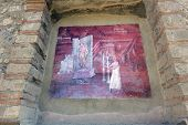 First-century Ad Fresco From The Temple Of Isis At The Archeological Site Pompeii.this Site Is An Un poster