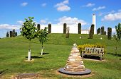 The Armed Forces Memorial And Obelisk At The National Memorial Arboretum, Alrewas, Staffordshire, Uk poster