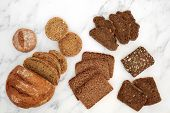 Low glycemic healthy bread variety for diabetics high in antioxidants, smart carbs & omega 3 fatty a poster