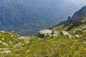 Landscape From Hiking Trail From Kupen Peaks To Orlovets Peak, Rila Mountain, Bulgaria poster