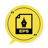 Black Eps File Document. Download Eps Button Icon Isolated On White Background. Eps File Symbol. Yel poster