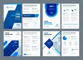 Abstract Flat Background Blue Brochures Annual Reports Covers Or Brochures Flyers Design Templates S poster