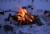 Winter Camp Fire
