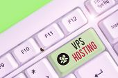 Text Sign Showing Vps Hosting. Conceptual Photo Mimics A Dedicated Server Within A Shared Hosting En poster
