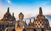 Borobudur Temple At Sunrise, Java Island, Indonesia poster