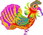 stock photo of turkey-cock  - turkey cock on thanksgiving day with colorful collar and tail - JPG