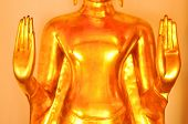 pic of budha  - Closed up hand of budha in Thailand temple - JPG