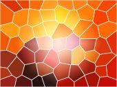 stock photo of stained glass  - A Large multi colored stain glass background - JPG