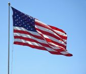 pic of waving american flag  - This American flag is flying it - JPG