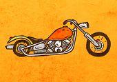 image of chopper  - Chopper Motorcycle - JPG