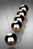 image of newton  - Balancing balls Newton - JPG