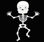 pic of walking dead  - Vector illustration of Funny skeleton cartoon isolated on white background - JPG
