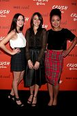 LOS ANGELES - NOV 6:  Haley Ramm, Italia Ricci, Aisha Dee at the CRUSH by ABC Family Clothing Line L