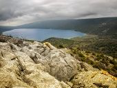 image of natural phenomena  - Beautiful view of the natural phenomena such as the Vrana Lake on Cres Croatia - JPG