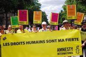 Amnesty international in Paris gay-Pride 2009