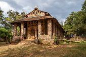 stock photo of ethiopia  - Debre Birhan Selassie Church in Gondar Ethiopia - JPG