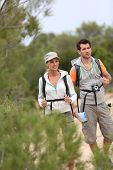 Couple on a hiking journey