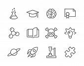 image of conic  - Simple set of Science related vector icons for your design - JPG