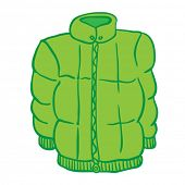 winter jacket cartoon