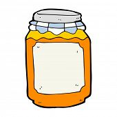 cartoon jar of marmalade