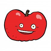 cartoon apple