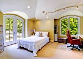 picture of vault  - High vaulted ceiling bedroom with walkout deck - JPG