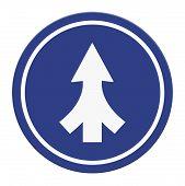 foto of merge  - Traffic sign Lanes Merging isolated on white background - JPG