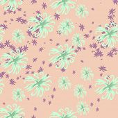 Seamless floral background, vector illustration for design.