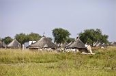 village on the hot plains of South Sudan