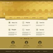Website Template with Abstract Header Design - Hexagon Pattern