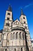 stock photo of bonnes  - The Bonn Minster or in German the Bonner M - JPG