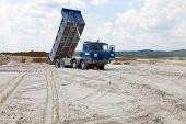 image of dump-truck  - Freight truck with dump body - JPG