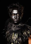 pic of azazel  - Woman with harpy makeup  - JPG