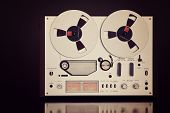 picture of analogy  - Analog Stereo Open Reel Tape Deck Recorder Vintage For Professional Sound Recording - JPG