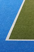 Astroturf Sports Feld Ecke
