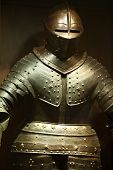 foto of armor suit  - the Warrior steel ancient military armor showing - JPG