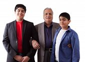 pic of east-indian  - Picture of an East Indian grandfather with his two grandsons - JPG