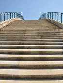 stock photo of stairway to heaven  - Modern stairs into the sky - JPG