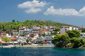 image of neo  - Greece the peninsula Sithonia embankment in Neos Marmaras - JPG