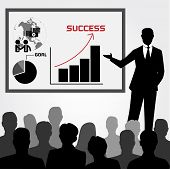 stock photo of training room  - Vector of Business Training and Coaching Concept - JPG