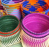 stock photo of aborigines  - Colorful bags closeup in traditional aboriginal sewing