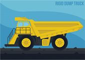 picture of dump_truck  - mining machinery - JPG